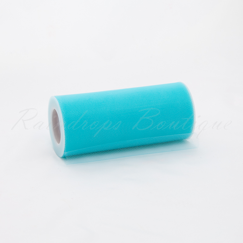 Aqua Tulle Roll 25 Yards