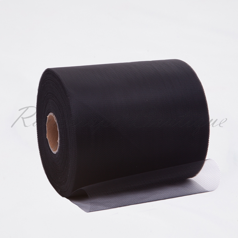 Black Polyester Tulle Roll