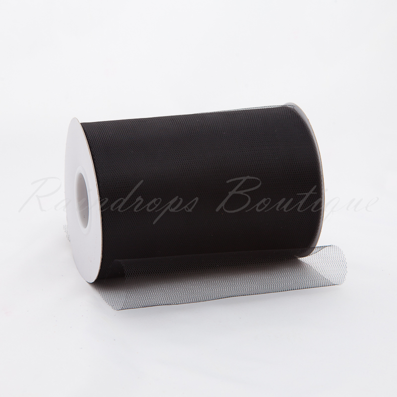 Black Tulle Roll 100 Yards