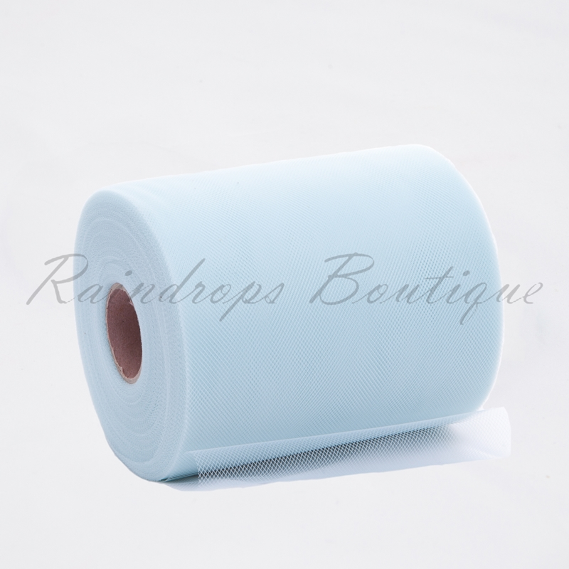Ice Blue Polyester Tulle Roll