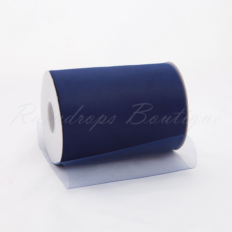 Navy Tulle Roll 100 Yards