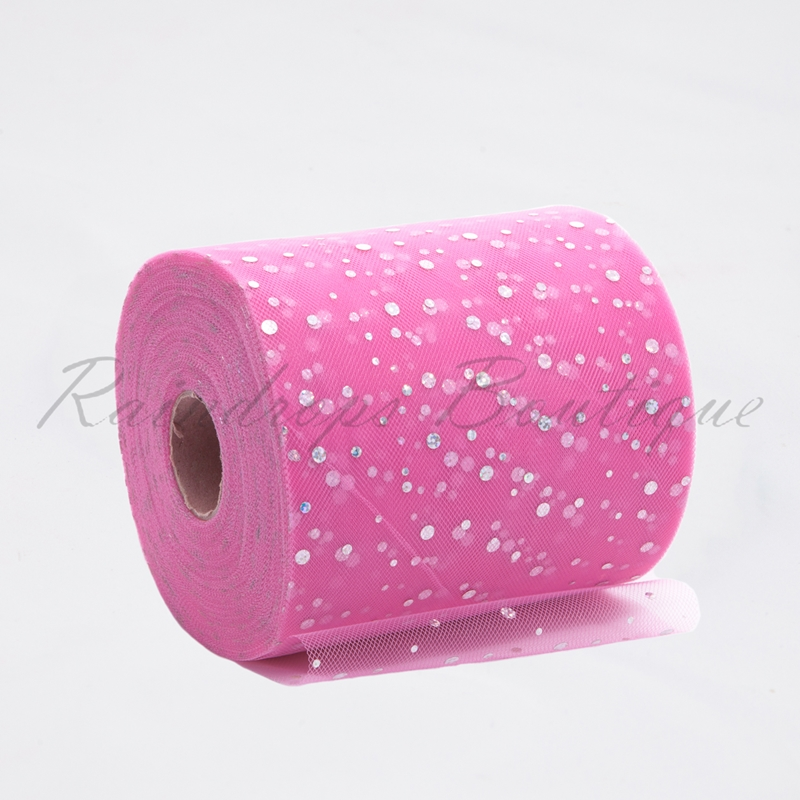 Pink Sequin Tulle Roll