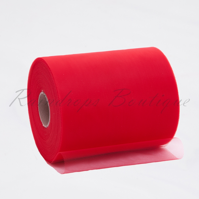 Red Polyester Tulle Roll