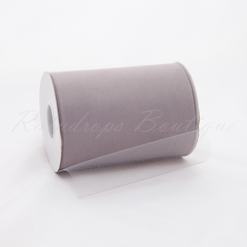 Silver Tulle Roll 100 Yards