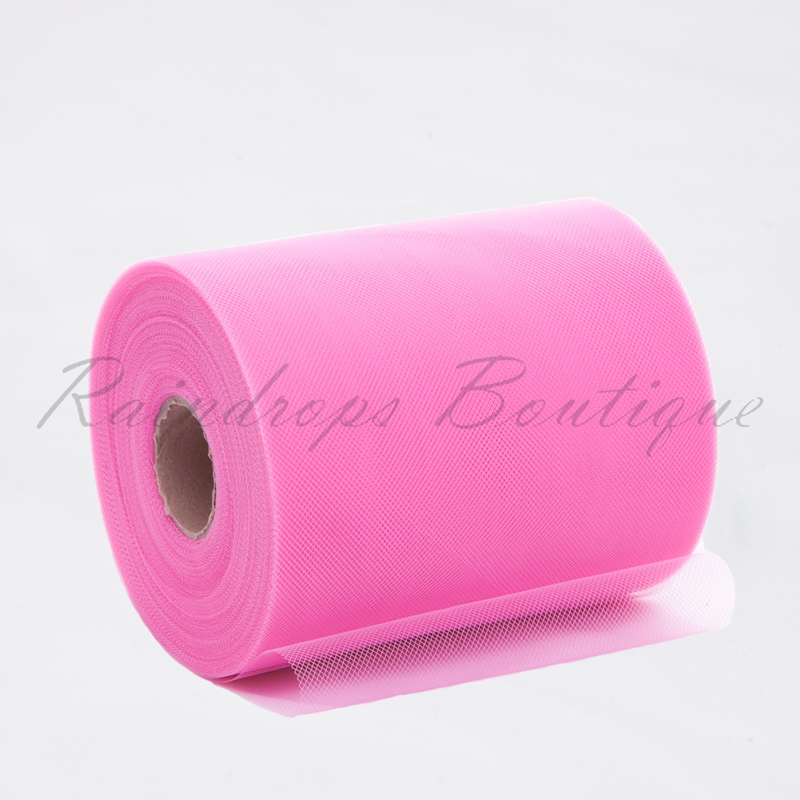 Pink Polyester Tulle Roll
