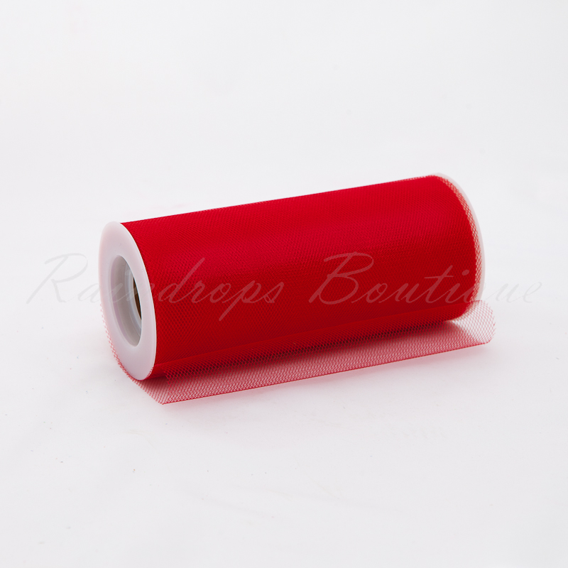 Red Shimmer Tulle Roll