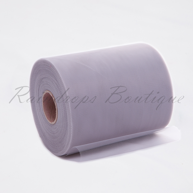 Silver Grey Polyester Tulle Roll